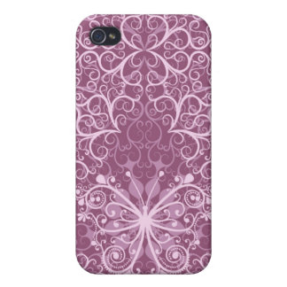 Vintage Pink Pattern Covers For iPhone 4