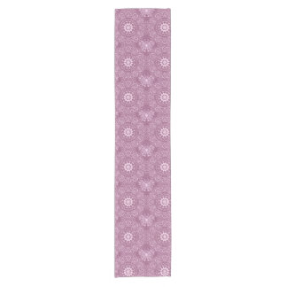 Vintage Pink Pattern Short Table Runner
