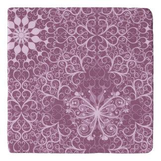 Vintage Pink Pattern Trivet
