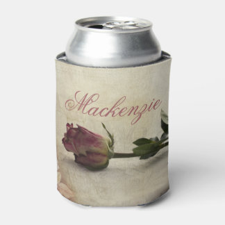 Vintage Pink Pretty Romantic Rose Flower w/ Name