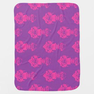 Vintage pink/purple color background buggy blanket