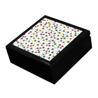Vintage Pink Red Black Paisley Polka Dots Pattern Jewelry Box