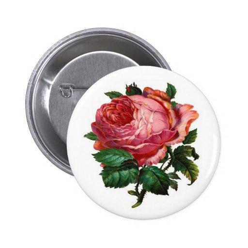 VINTAGE PINK ROSE PIN