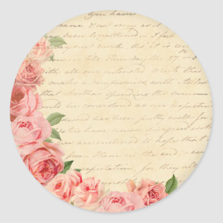Vintage pink rose beautiful and girly sticker