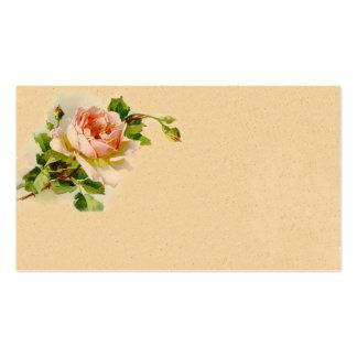 Vintage Pink Rose Business Profile Card Business Card Templates