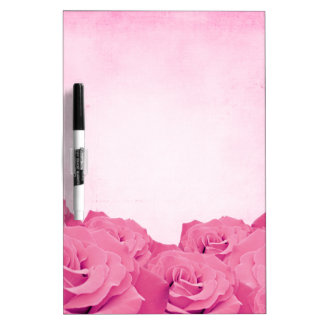 Vintage Pink Rose Dry Erase Board