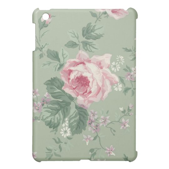Vintage Pink Rose Floral iPad Mini case