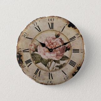 Vintage Pink Rose Floral steampunk Wedding 6 Cm Round Badge