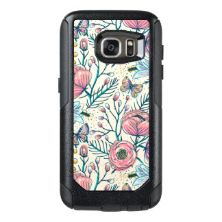Vintage Pink Rose Flower Samsung Galaxy S7 Case