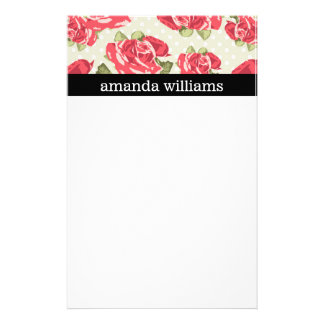 Vintage Pink Rose Stationery