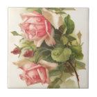 Vintage Pink Rose Tile
