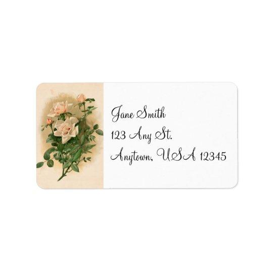 Vintage Pink Roses Address Labels