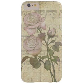 Vintage Pink Roses and Music Score Barely There iPhone 6 Plus Case