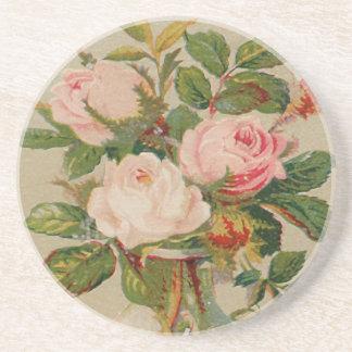 Vintage Pink Roses Coaster