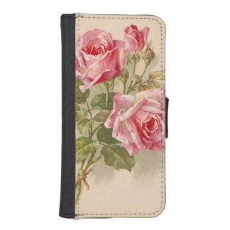 Vintage Pink Roses iPhone SE/5/5s Wallet Case