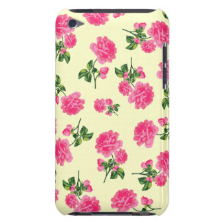 Vintage pink roses ipod case - cream