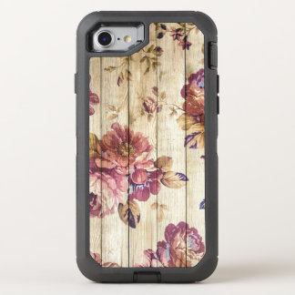 Vintage Pink Roses on Wood iPhone 7 Defender Case