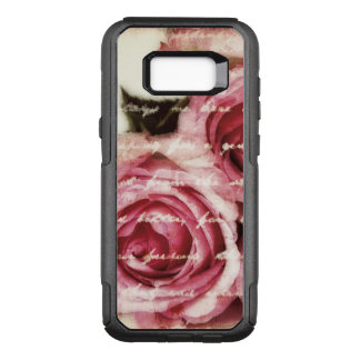 Vintage Pink Roses OtterBox Commuter Samsung Galaxy S8+ Case