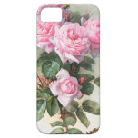 Vintage Pink Roses Painting Case For The iPhone 5
