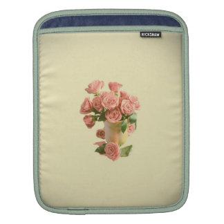 Vintage Pink Roses. Retro Flowers iPad Sleeves