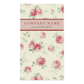 Vintage Pink Roses Texture Business Card