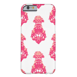 Vintage pink/salmon color background barely there iPhone 6 case