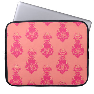 Vintage pink/salmon color background laptop sleeve