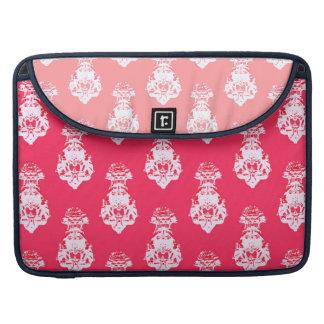 Vintage pink/salmon color background sleeve for MacBook pro