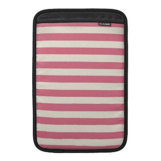 Vintage Pink Stripes Design MacBook Sleeves