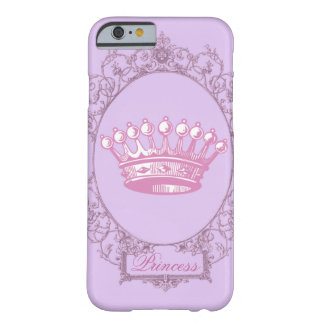 Vintage Pink victorian princess crown iphone5case Barely There iPhone 6 Case