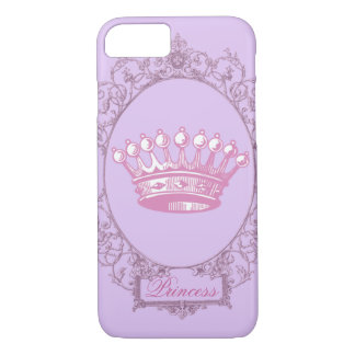 Vintage Pink victorian princess crown iphone5case iPhone 7 Case