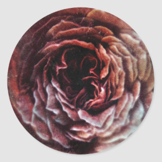 Vintage Pinkness Round Sticker