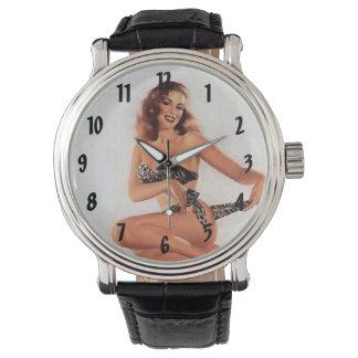 Vintage Pinup Bikini Girl Watch