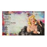 Vintage Pinup Grunge Digital Art Pack Of Standard Business Cards