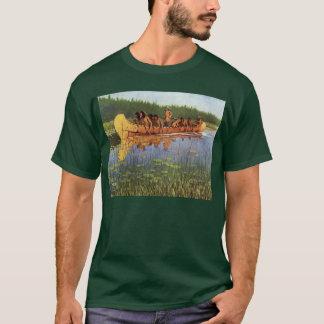 Vintage Pioneers, Great Explorers by Remington T-Shirt
