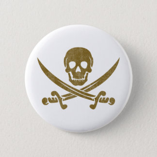 Vintage Pirate 6 Cm Round Badge