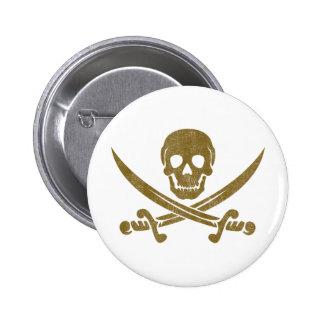 Vintage Pirate 6 Cm Round Badge
