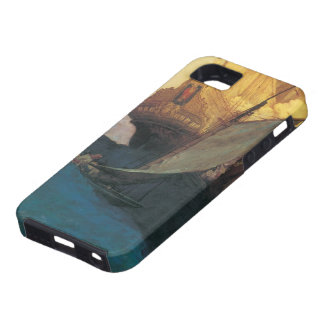 Vintage Pirate, Attack on a Galleon by Howard Pyle iPhone 5 Case