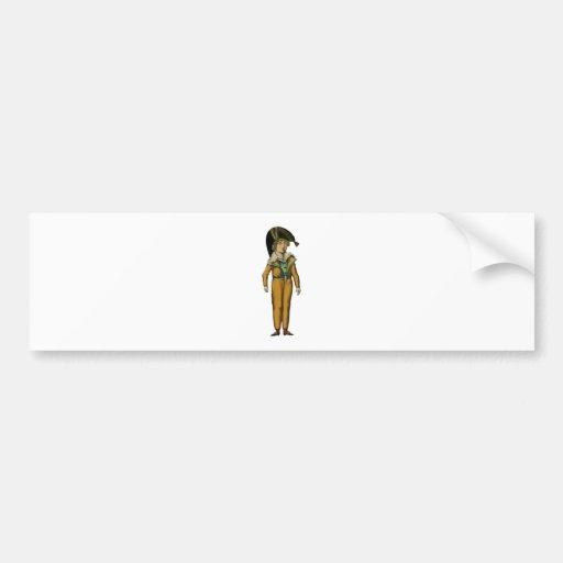 Vintage Pirate Boy Illustration Bumper Stickers