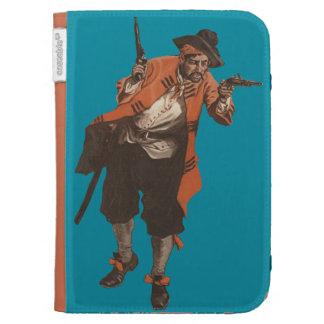 Vintage Pirate Flintlock Pistol Amazon Kindle Case
