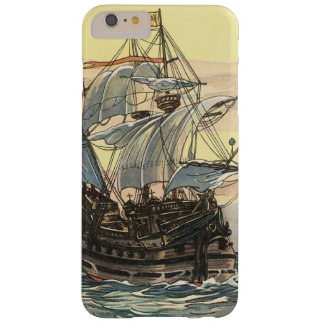 Vintage Pirate Ship, Galleon Sailing on the Ocean Barely There iPhone 6 Plus Case