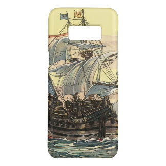 Vintage Pirate Ship, Galleon Sailing on the Ocean Case-Mate Samsung Galaxy S8 Case