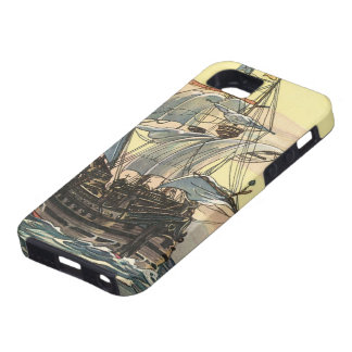 Vintage Pirate Ship, Galleon Sailing on the Ocean iPhone 5 Covers