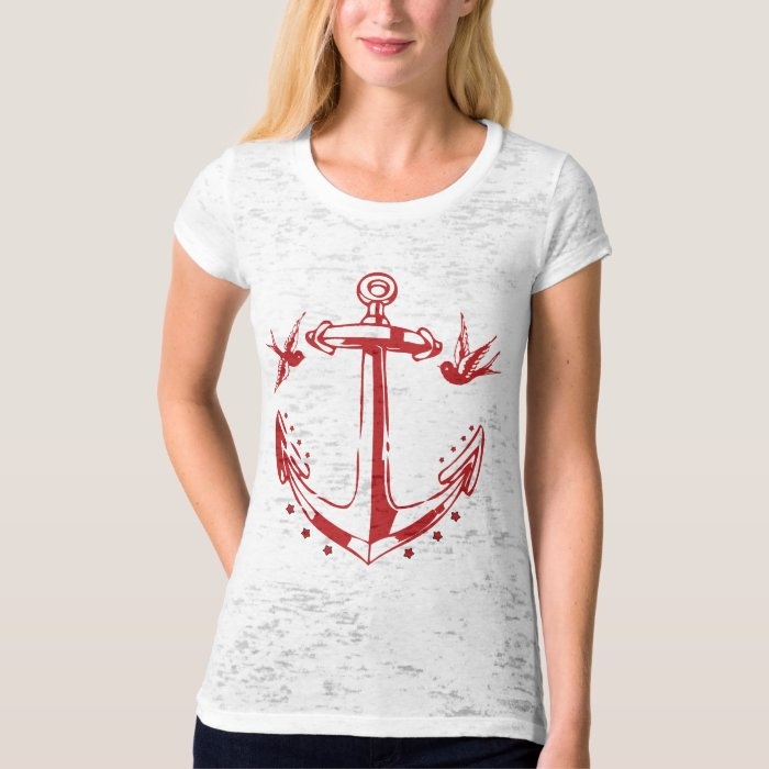 Vintage Pirate Tattoo Anchor & Sparrow Sailor Tee