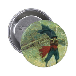 Vintage Pirate, The Flying Dutchman by Howard Pyle 6 Cm Round Badge