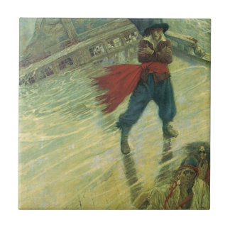 Vintage Pirate, The Flying Dutchman by Howard Pyle Tile