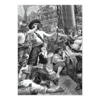Vintage Pirates, Adult Birthday Party Card