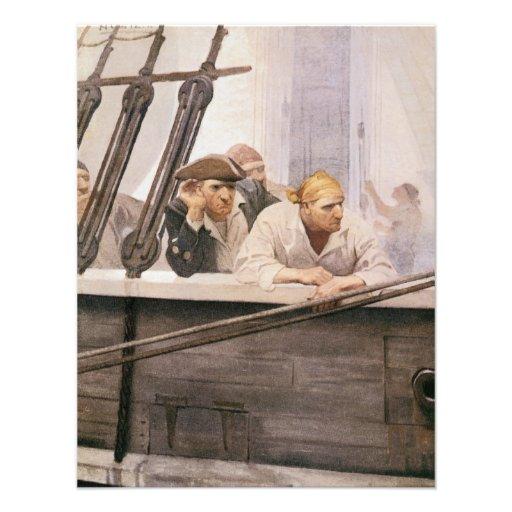 Vintage Pirates; Brig Covenant in a Fog, NC Wyeth Announcement