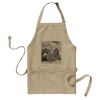 Vintage Pirates Counting their Treasures and Loot Standard Apron