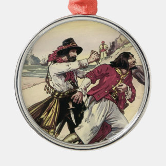 Vintage Pirates, Duel till the Death on the Beach Christmas Ornament